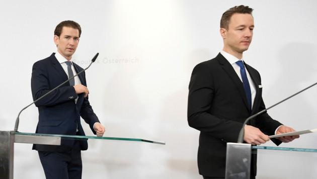 Bundeskanzler Sebastian Kurz und Finanzminister Gernot Blümel