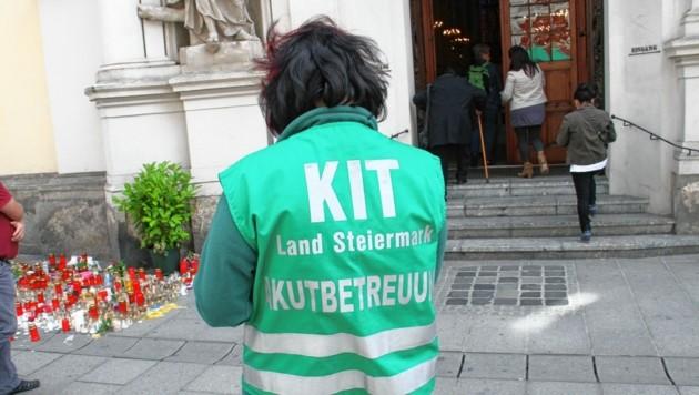 Das Kriseninterventionszentrum leistete nach der Amokfahrt in Graz wertvollste Dienste. (Bild: Kronenzeitung)
