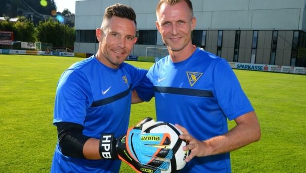 Gemeinsam mit Bruder Hans-Peter (li.) ließ Markus Berger die aktive Karriere beim SAK ausklingen. (Bild: Manfred Laux)