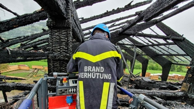 Brand in Stuhlfelden. (Bild: Freiwillige Feuerwehr Mittersill)
