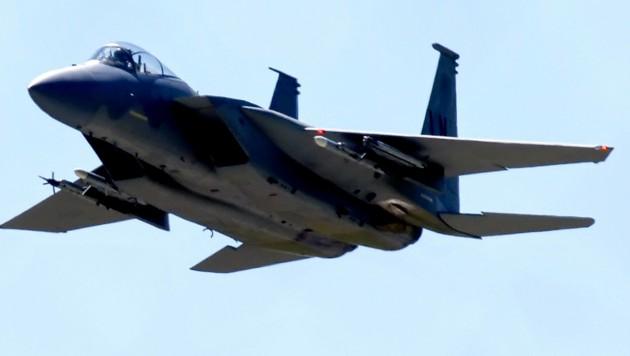 Der abgestürzte Jet soll ein F-15C Eagle wie dieser sein. (Bild: APA/AFP/MAX NASH)