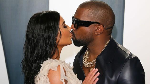 Kim Kardashian und Kanye West (Bild: APA/ Photo by Jean-Baptiste Lacroix / AFP )