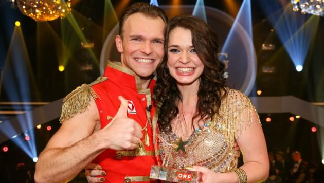 Vadim Garbuzov und Roxanne Rapp (Dancing Stars Sieger 2014) (Bild: ORF)