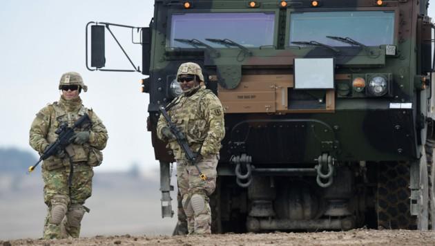 US-Soldaten auf dem Militärgelände in Grafenwöhr in Deutschland. US-Präsident Donald Trump plant einen massiven Truppenabzug aus Deutschland.