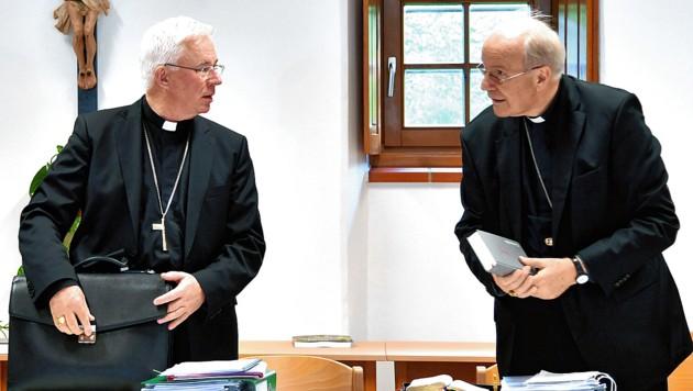 Erzbischof Franz Lackner (li.) und Kardinal Christoph Schönborn (Bild: APA/picturedesk.com/Barbara Gindl)