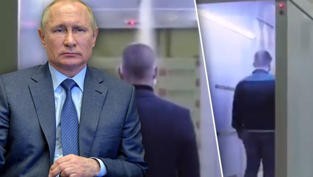 (Bild: APA/AFP/SPUTNIK/Alexey DRUZHININ, twitter.com, krone.at-Grafik)