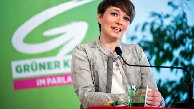 Grünen-Klubchefin Sigrid Maurer (Bild: APA/GEORG HOCHMUTH)