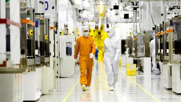 Eine Samsung-Chipfabrik in Südkorea, in der Flash-Speicher für SSDs und Arbeitsspeicher hergestellt wird (Bild: Samsung)