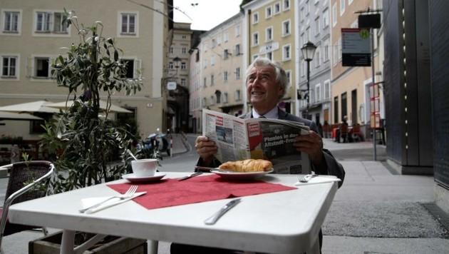 Ferdinand Ranzenberger hofft auf eine Fußgängerzone in der Gstättengasse. (Bild: Andreas Tröster)