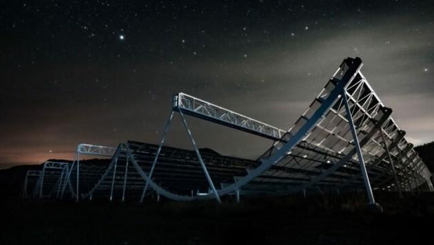 Das Radioteleskop, mit dem die Signale aufgezeichnet wurden. (Bild: CHIME Collaboration)