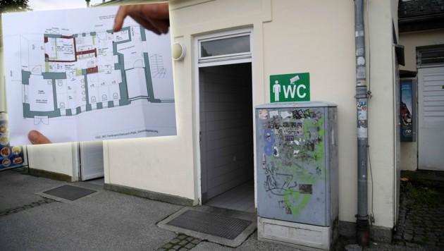 Neue Räume, Eingänge und Anstrich bekommt das WC am Hanuschplatz (Bild: ANDREAS TROESTER)
