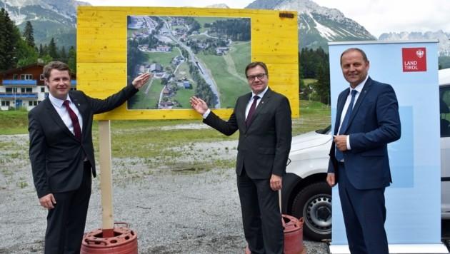BM Tschugg, LH Platter und Vize Geisler (Bild: Land Tirol/Gerhard Berger)