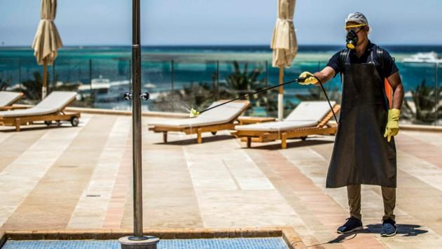 Ägypten öffnet am 1. Juli die Flughäfen und bereitet die Hotels auf Touristen vor - von Österreich gilt eine Reisewarnung. (Bild: AFP)