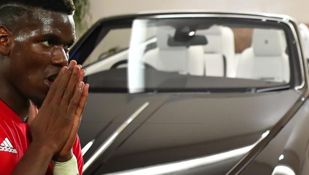 So in etwa dürfte Pogbas Wagen, ein Rolls Royce Wrath Black Badge, ausschauen. (Bild: GEPA/AFP/Ben Stansall/kronesport)