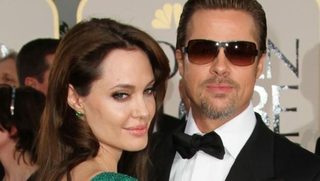 Angelina Jolie und Brad Pitt (Bild: APA/AFP PHOTO/Valerie MACON)