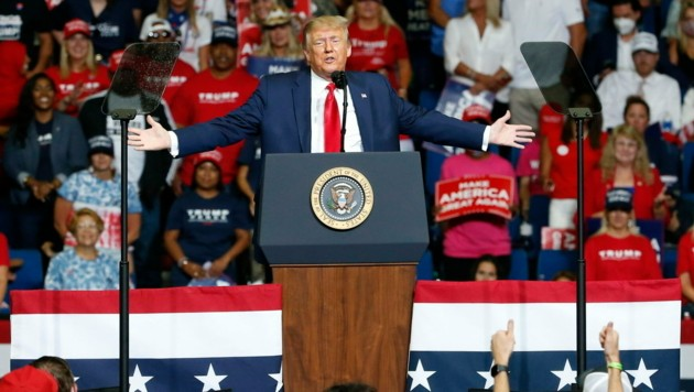 Donald Trumps Wahlkampfauftritt in Tulsa