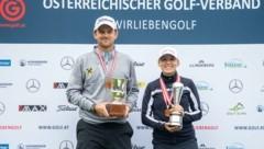 Die strahlenden Sieger Bernd Wiesberger und Emma Spitz. (Bild: GEPA pictures/ Harald Steiner)
