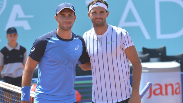 Borna Coric (li.) und Grigor Dimitrow (Bild: AP)
