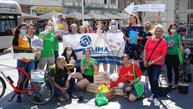 Startschuss für das Klimavolksbegehren am Grazer Hauptplatz am Montag, 22. Juli (Bild: Sepp Pail)