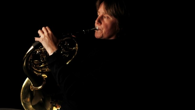 Madeleine Dahlberg, seit 1988 Hornistin im Bruckner Orchester (Bild: Winkler Reinhard)