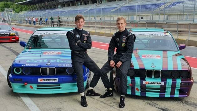 Die schnellen Wedel-Brüder Lando (li.) und Alexis gegen in der BMW 325 Challenge Gas (Bild: Histocup)