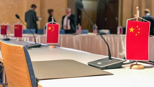 Mit diesem Foto hat der US-Sondergesandte für Rüstungskontrolle auf die Abwesenheit Chinas in Wien aufmerksam gemacht. (Bild: twitter.com/USArmsControl)