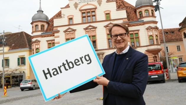 Der Hartberger Bürgermeister Marcus Martschitsch. (Bild: Christian Jauschowetz)
