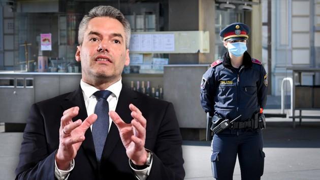 Innenminister Nehammer hat schon mehrfach betont, dass die Polizei eine stärkere Rolle im Zuge der Corona-Pandemie übernehmen soll.