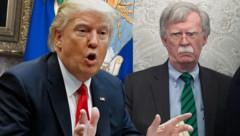 John Bolton (rechts) hat mit seinem Enthüllungsbuch seinen ehemaligen Chef, US-Präsident Donald Trump, ziemlich verärgert. (Bild: APA/AFP/SAUL LOEB, AP, krone.at-Grafik)