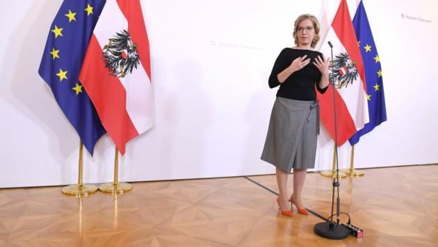 Infrastrukturministerin Leonore Gewessler (Grüne) (Bild: APA/ROLAND SCHLAGER)
