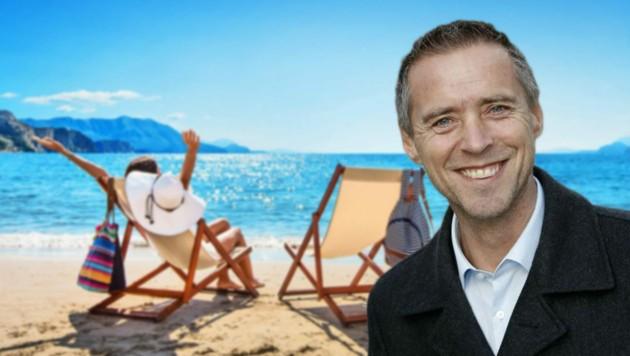 Peter Eder, Präsident der Arbeiterkammer Salzburg, weiß, was man im Urlaub darf (Bild: Pasko Maksim - stock.adobe.com, Tschepp)
