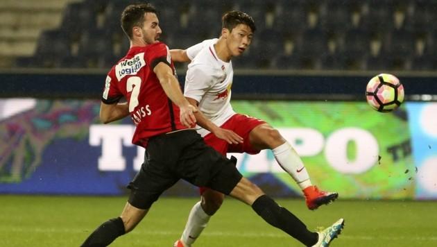 Auf Bundesliga-Duelle auf höchstem Niveau (wie hier gegen die Bullen) wartet Fabio Strauss seit August 2019. (Bild: ANDREAS TRÖSTER)