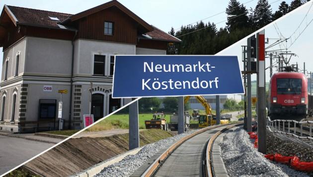 Alles neu: Der Bahnhof in Neumarkt wird modern - mit neuem Namen und drittem Gleis (Bild: ÖBB/Deopito, Roittner)