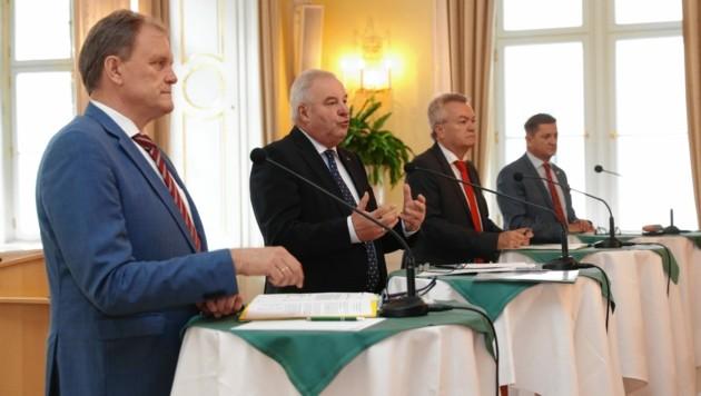 Erwin Dirnberger, Hermann Schützenhöfer, Anton Land und Kurt Wallner (Bild: Jürgen Radspieler)
