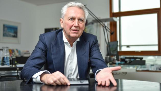 Gerhard Luftensteiner ist Vorstandsvorsitzender der KEBA (Bild: Markus Wenzel)