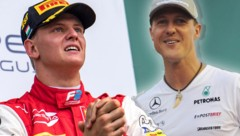 Mick Schumacher (li.) und sein Vater Michael (Bild: AFP, krone.at-grafik)