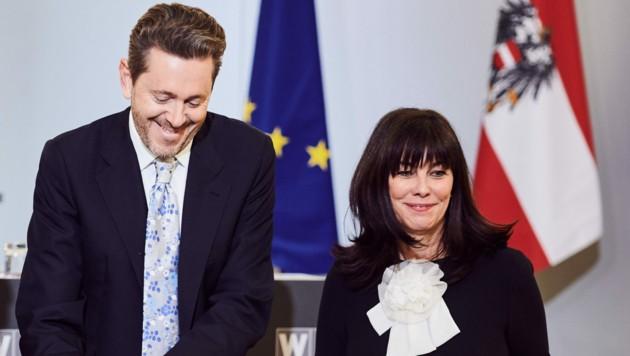 Harald Mahrer freut sich über die erneute Zusammenarbeit mit Martha Schultz. (Bild: WKÖ Marek/Knopp)
