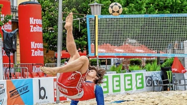 Österreichs beste Footvolleyballer messen sich erstmals in einer eigenen Liga. (Bild: Christof Hütter Photography e.U.)