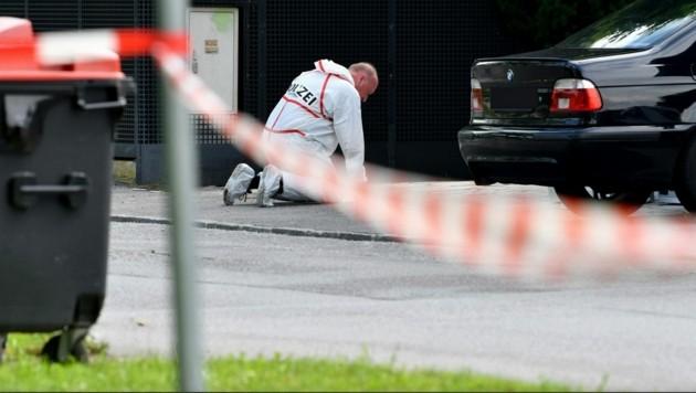 Schüsse vor Haus in Leopoldskron (Bild: APA/Barbara Gindl)