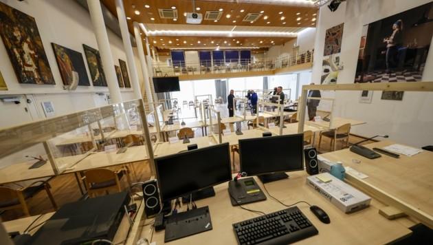 Im Kolpinghaus ging am Freitag das Megaverfahren gegen 14 Angeklagte zu Ende. (Bild: Tschepp Markus)