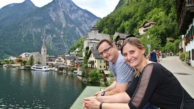 Karina und Franz Grassauer aus Kapfenberg kamen zum allerersten Mal nach Hallstatt. (Bild: Reinhard Hörmandinger )