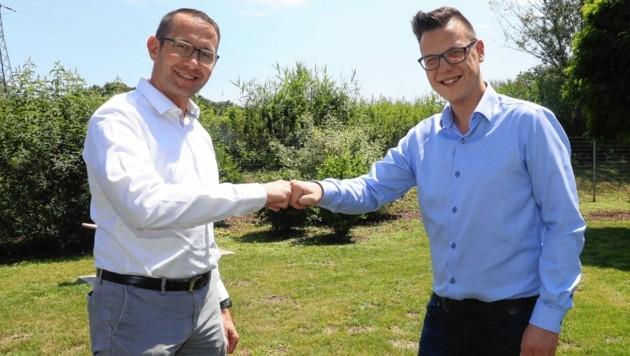 Lieboch: Stefan Helmreich (ÖVP) und Simon Gruber (SPÖ) (Bild: Juergen Radspieler)
