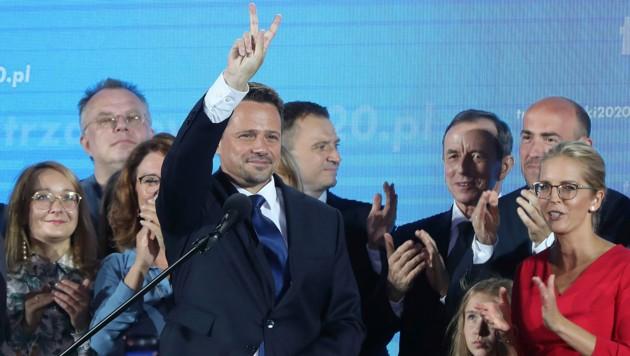 Der oppositionelle polnische Präsidentschaftskandidat Rafal Trzaskowski