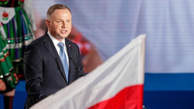 Der polnische Präsident Andrzej Duda muss in die Stichwahl