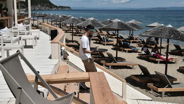 In Griechenland bereitet man sich gerade auf den Tourismus-Start auf den Inseln vor. (Bild: AFP)