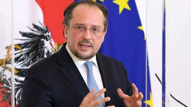 Außenminister Schallenberg (ÖVP) zeigte sich besorgt über die Entwicklungen in Weißrussland.