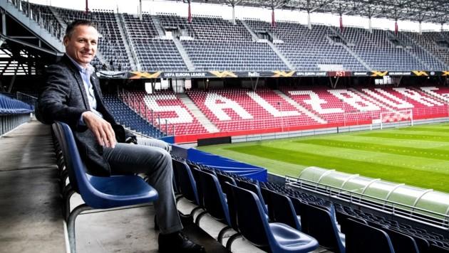 Stephan Reiter kündigt trotz Coronakrise wirtschaftliche Rekordwerte für Red Bull Salzburg an.