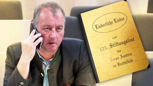 Die Staatsanwaltschaft Graz hat ihre Ermittlungen gegen den FPÖ-Abgeordneten Wolfgang Zanger abgeschlossen. (Bild: APA, Andreas Schiel, krone.at-Grafik)