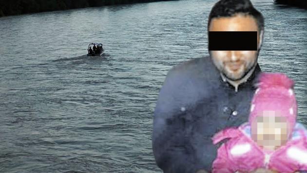 Der Tatverdächtige im Mordfall Bircan D. (Bild: Zeitungsfoto.at/Daniel Liebl, Privat, krone.at-Grafik)