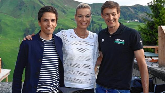 Thomas Rohregger, Maria Höfl-Riesch und Marcus Burghardt (von li. nach re.) (Bild: zVg)